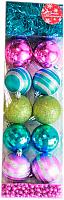 Набор ёлочных игрушек Luazon Ассорти 2187025 (яркий, 12шт) -