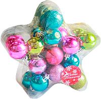 Набор ёлочных игрушек Luazon Звезда 2187009 (ассорти, 24шт) -