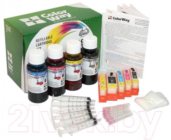 Купить Заправочный комплект ColorWay, IP4840RC-5.1P, Китай, черный