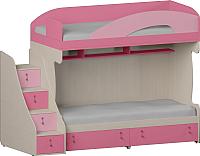 Двухъярусная кровать Softform Миа (пинк/каприче, левый) -
