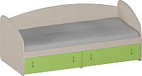 Кровать-тахта Softform Миа (зеленый лайм) -