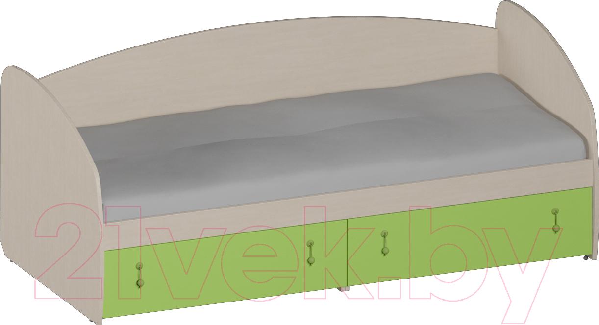 Купить Односпальная кровать Softform, Миа (зеленый лайм), Беларусь