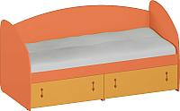 Кровать-тахта Softform Миа мини (тыквенный/оранжевый) -