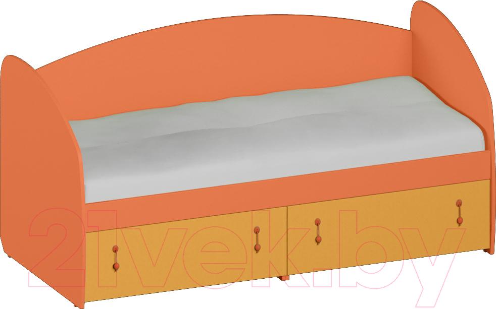 Купить Односпальная кровать Softform, Миа мини (тыквенный/оранжевый), Беларусь