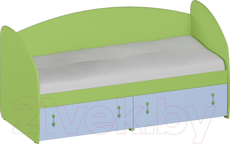Купить Односпальная кровать Softform, Миа мини (зеленый лайм/голубой горизонт), Беларусь