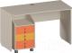 Письменный стол Softform Миа (тыквенный/оранжевый) -