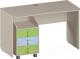 Письменный стол Softform Миа (зеленый лайм/голубой горизонт) -