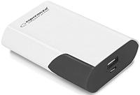 Портативное зарядное устройство Esperanza Boson 6000mAh / EMP111WK (белый/черный) -