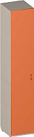 Шкаф-пенал Softform Миа одностворчатый (тыквенный) -