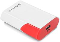 Портативное зарядное устройство Esperanza Boson 6000mAh / EMP111WR (белый/красный) -