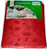 Скатерть Tinta Адель ТС-1418 140x180 (бордовый) -