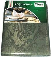 Скатерть Tinta Жаклин ТС-1418 140x180 (темно-оливковый) -