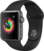 Умные часы Apple Watch Series 3 38mm / MQKV2 (алюминий серый космос/черный) -