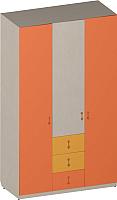 Шкаф Softform Миа трехстворчатый (тыквенный/оранжевый) -