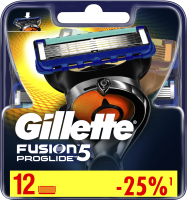 Сменные кассеты Gillette Fusion ProGlide (12шт) -
