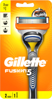 Бритвенный станок Gillette Fusion (+ 2 кассеты) -
