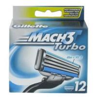Сменные кассеты Gillette Mach3 Turbo Алоэ (12шт) -
