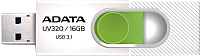 Usb flash накопитель A-data DashDrive UV320 16GB White/Green (AUV320-16G-RWHGN) -