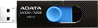 Usb flash накопитель A-data DashDrive UV320 32GB Black/Blue (AUV320-32G-RBKBL) -