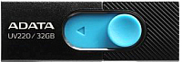 Usb flash накопитель A-data DashDrive UV220 32GB Black/Blue (AUV220-32G-RBKBL) -