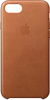 Чехол-накладка Apple Leather Case для iPhone 8/7 Saddle Brown / MQH72ZM/A -