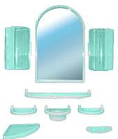 Комплект мебели для ванной Белпласт с300-2830 (бирюзовый) -
