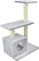 Комплекс для кошек UrbanCat K96-03-04 (светло-серый) -