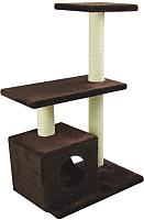 Комплекс для кошек UrbanCat K96-03-05 (темно-коричневый) -