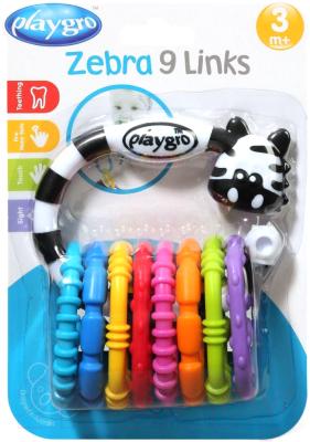 Погремушка Playgro Зебра / 0184558 (с прорезывателем)