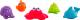 Набор игрушек для ванной Playgro Под водой / 0184967 -