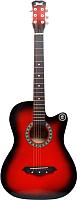 Акустическая гитара Jervis JG-38C/RDS (красный) -