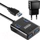 USB-хаб Ginzzu GR-384UAB -