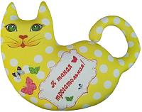 Подушка-игрушка Мнушки Кошечка Милашка / АБ000042 (желтый) -