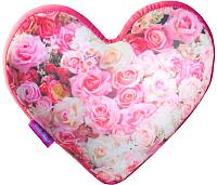 Подушка декоративная Мнушки Сердце-3D Букет цветов / T2825C1701A101PN -