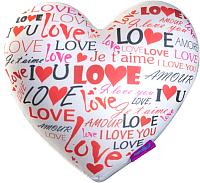 Подушка декоративная Мнушки Сердце-3D Граффити / T2825C1701A107WH (белый) -