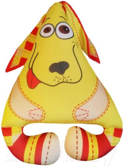 Купить Мягкая игрушка Мнушки, Собака Ушастик / АБ000040 (желтый), Россия, трикотаж