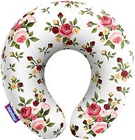 Подушка на шею Мнушки Нежные цветы / H3434C1701A003WH (белый) -