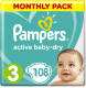 Подгузники Pampers Active Baby-Dry 3 Midi (108шт) -