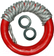Кольца гимнастические Формула здоровья КГ01А (красный) -
