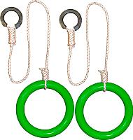 Кольца гимнастические Формула здоровья КГ01В (зеленый) -