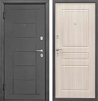 Входная дверь Промет Практик 504 беленый дуб (88x206, левая) -