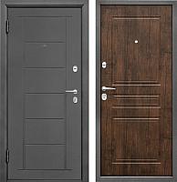 Входная дверь Промет Практик 504 тиковое дерево (98x206, левая) -