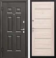 Входная дверь Промет Виктория Царга беленый дуб (98x206, левая) -