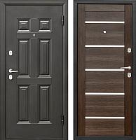Входная дверь Промет Виктория Царга венге (98x206, правая) -