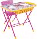 Комплект мебели с детским столом Ника КУ2П/3 Маша и Медведь: Азбука-3 -