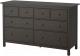 Комод Ikea Хемнэс 603.684.39 (черный/коричневый) -