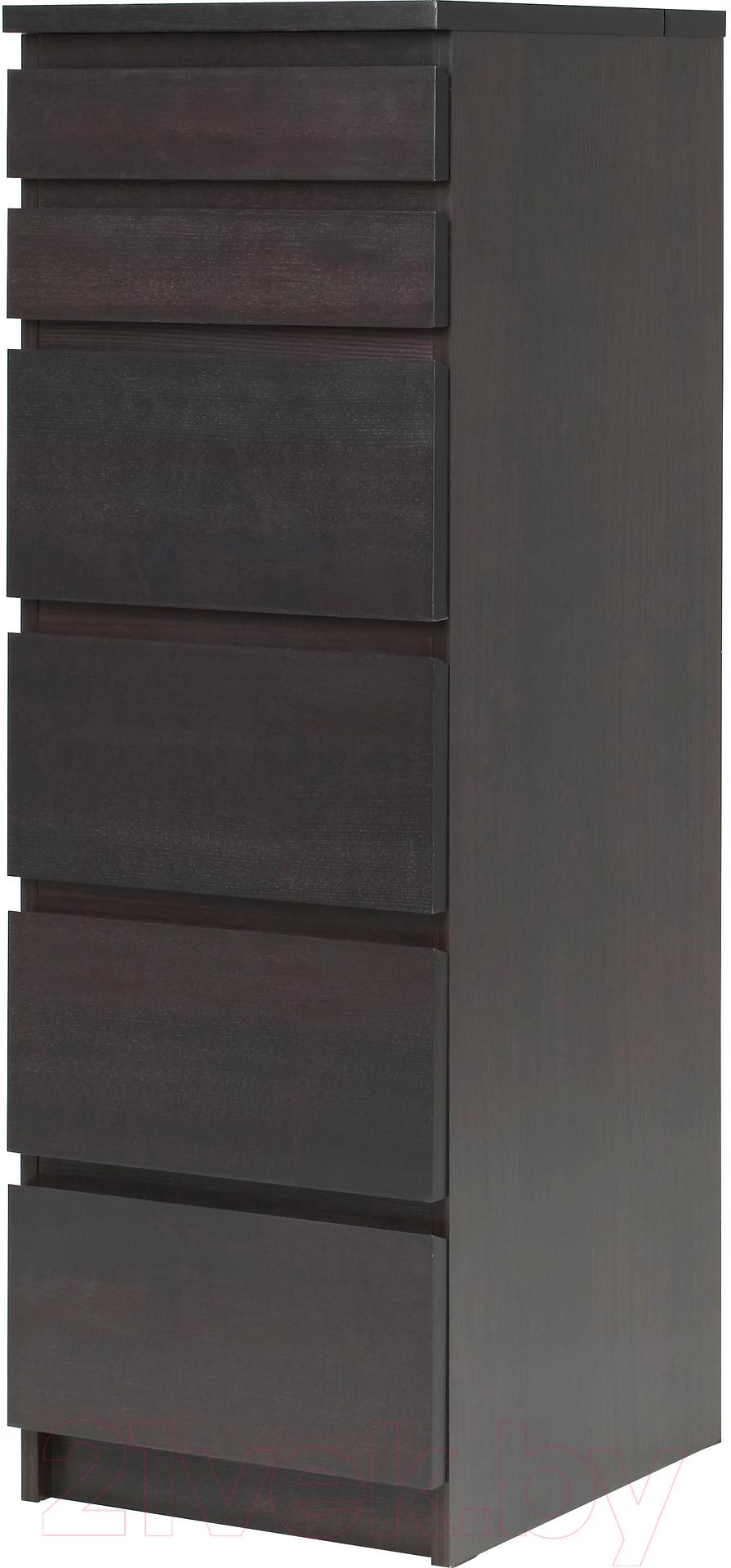 Купить Комод Ikea, Мальм 603.685.90 (черный/коричневый), Швеция