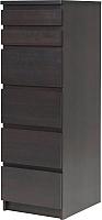 Комод Ikea Мальм 603.685.90 (черный/коричневый) -