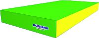 Гимнастический мат Romana ДМФ-ЭЛК-14.00.00 (зеленый/желтый) -