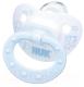 Пустышка NUK Baby Blue с кольцом / 10729576 (силикон, р.1) -